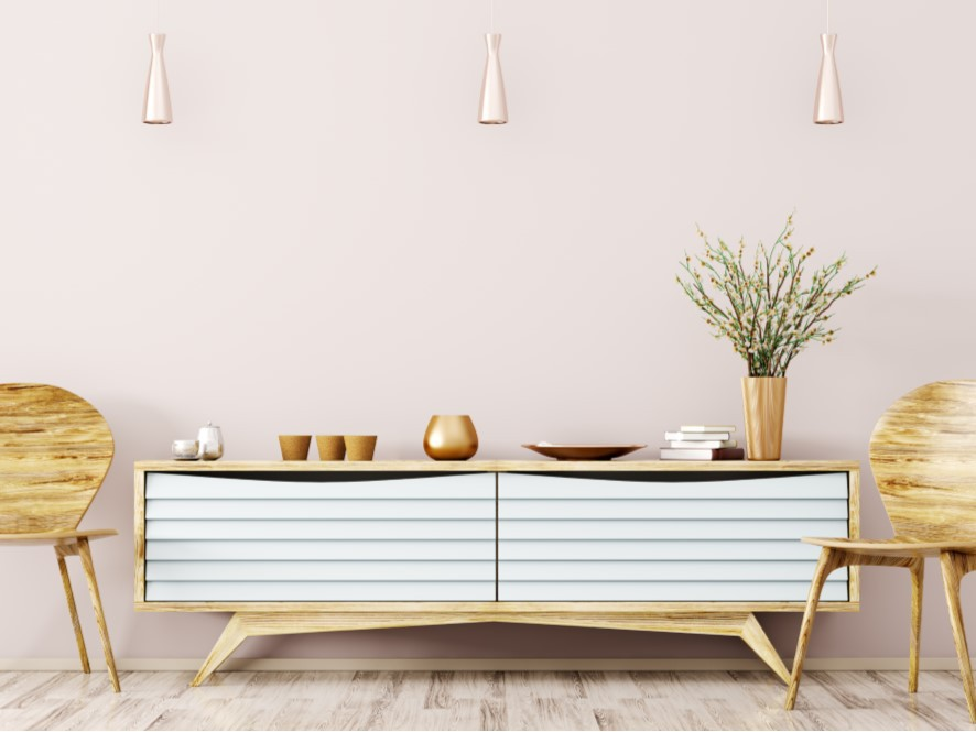 Soft_Pink_Entry_Timber_Chairs_white_cabinet_drawers_plant_Light_timber_floorboards