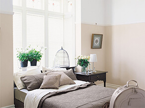 White Neutral Victorian Painted Bedroom With Birdcage