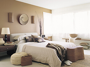 Brown Foresty Style Bedroom With Earthy Wooden Feel